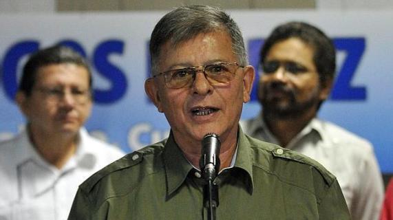 EFE El jefe guerrillero de las FARC Rodrigo Granda, alias «Ricardo Téllez», durante el anuncio del acuerdo en La Habana EFE